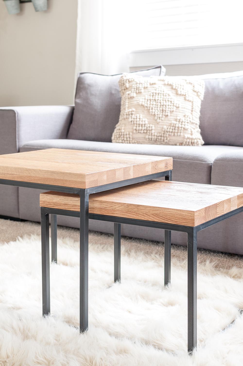 میز عسلی چوب و فلز