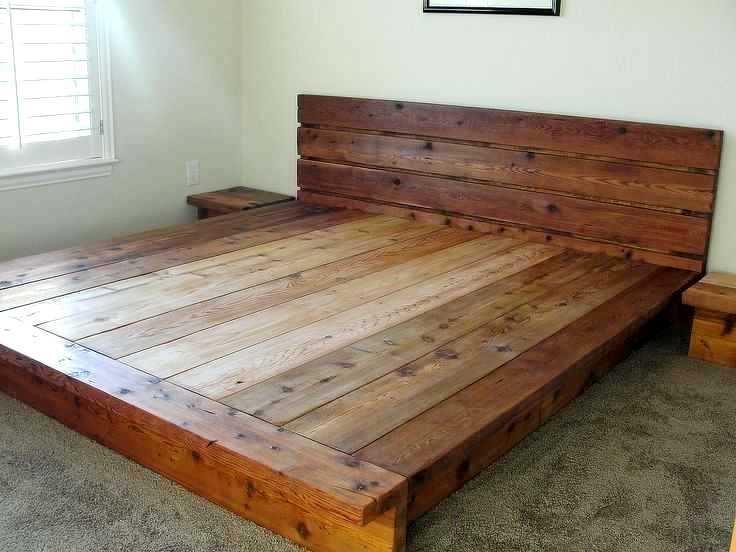 rustic-king-size-bed-frame-plans-metal-bedspreads-design-platform-cedar-wood-2-via-of-home-improvement-inspiring